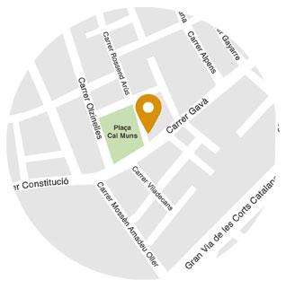 mapa de localització de la Fundació Sant Pere Claver